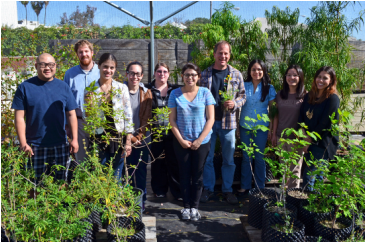 Image of the members of the Plants & H2O lab in 2011